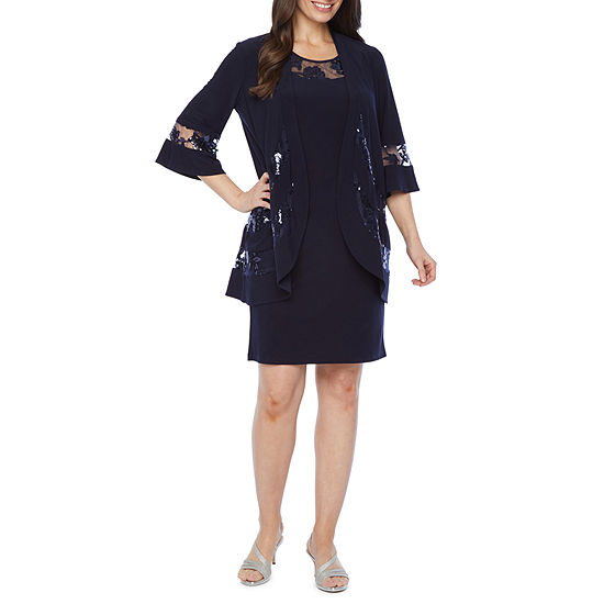 R & M Richards 3/4 Bell Sleeve Jacket Dress