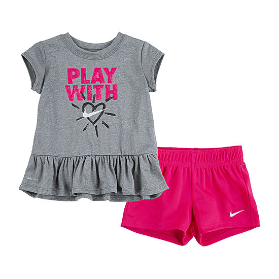 Nike Baby Girls 2-pc. Short Set