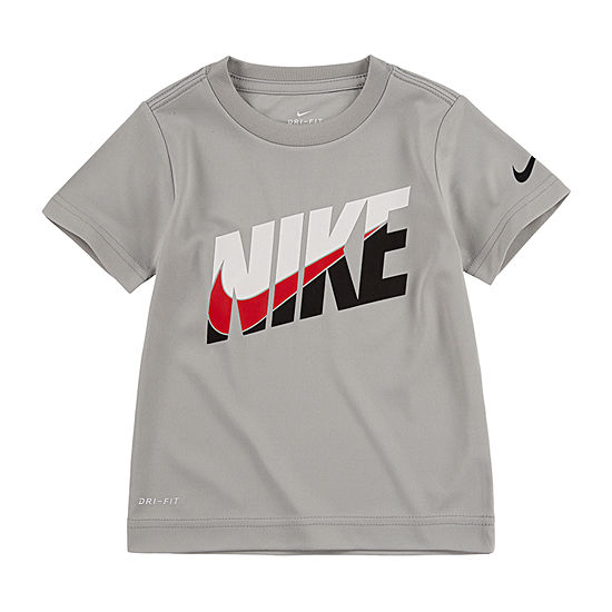 NIKE YOUTH//KIDS DRI-FIT BLACK SHIRT WITH NIKE GRAPHIC DESIGN FREE SHIPPING!