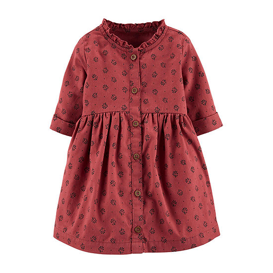 Carter's - Baby Girls Short Sleeve A-Line Dress