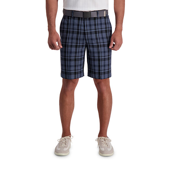 Haggar® Cool 18® Pro Traditional Plaid Classic Fit Flat Front Short