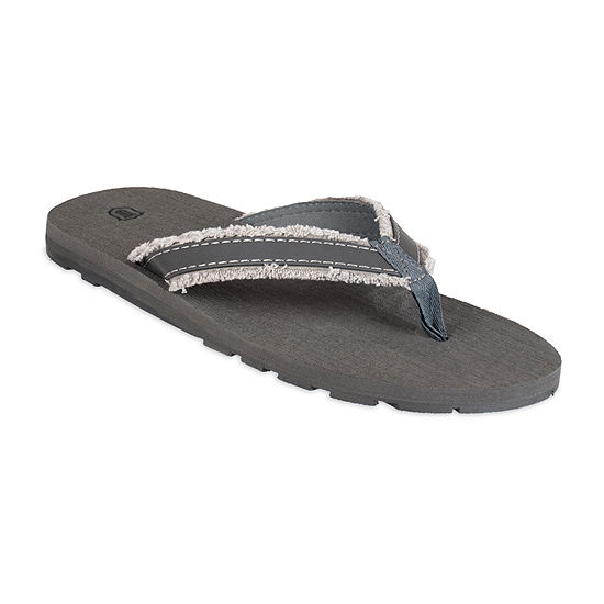 "Wembley™""Canvas Frayed Flip Flops"