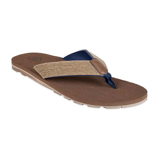 St. John's Bay™ Two Tone Canvas Flip Flops