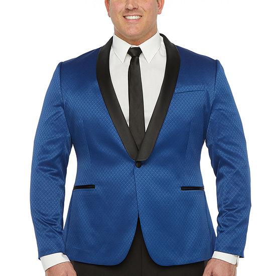 JF J.Ferrar Mens Stretch Classic Fit Tuxedo Jacket - Big and Tall