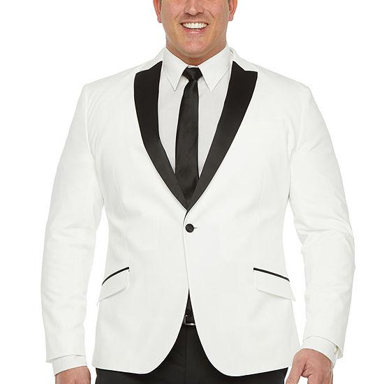 JF J.Ferrar Mens Classic Fit Tuxedo Jacket - Big and Tall