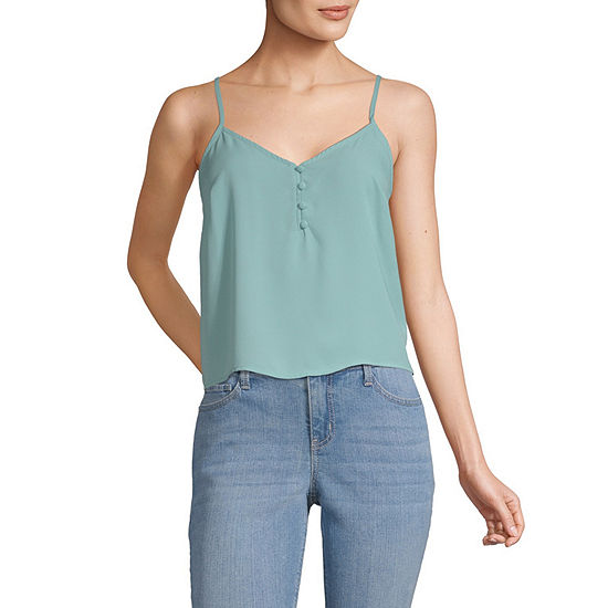 Society And Stitch-Juniors Womens V Neck Camisole