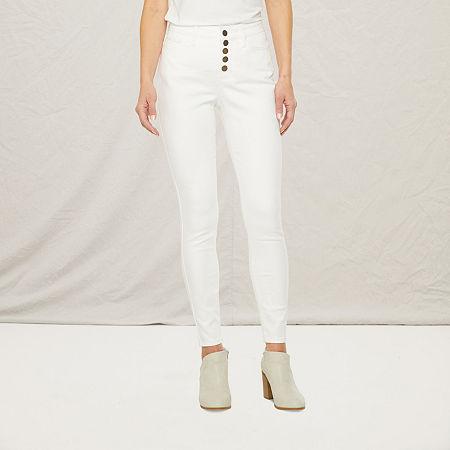 a.n.a Womens High Rise Skinny Jean, 16 , White
