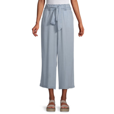 a.n.a Mid Rise Belted Cropped Pants