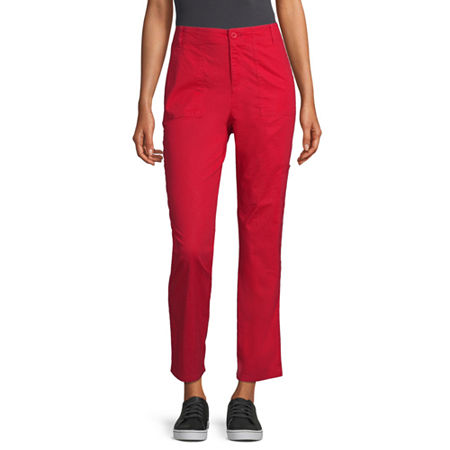 Liz Claiborne Cropped Pants, 16 , Red