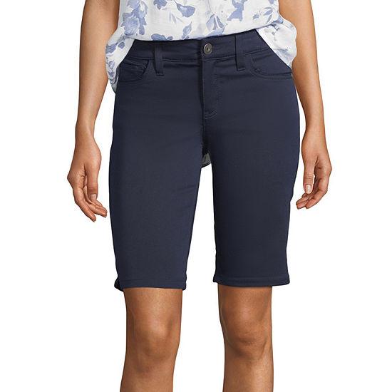 "Liz Claiborne Womens Stretch 11"" Bermuda Short"