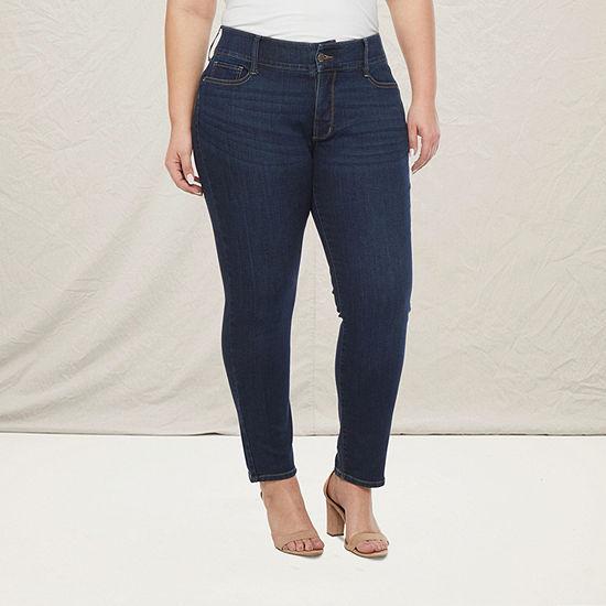a.n.a-Plus Womens Comfort Waist Skinny Fit Jean