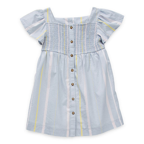Okie Dokie Toddler Girls Short Sleeve Shift Dress