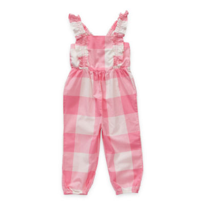 Okie Dokie Toddler Girls Sleeveless Jumpsuit