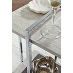 Signature Design by Ashley Bodalli Living Room Collection Glass Top End Table