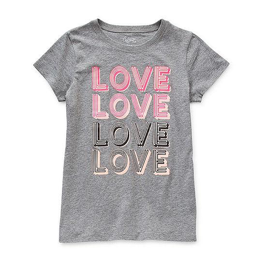 City Streets Little & Big Girls Crew Neck Short Sleeve Graphic T-Shirt