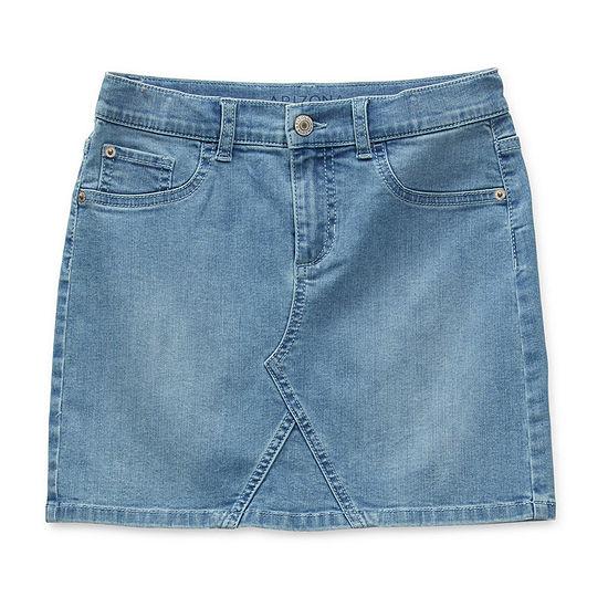 Arizona Little & Big Girls Denim Skirt