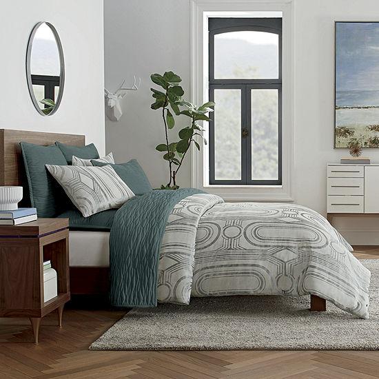 Loom + Forge Deco Jacquard 3-pc. Geometric Duvet Cover Set