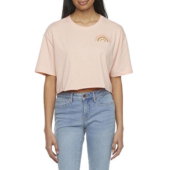Arizona Juniors Womens Crew Neck Short Sleeve Graphic T-Shirt