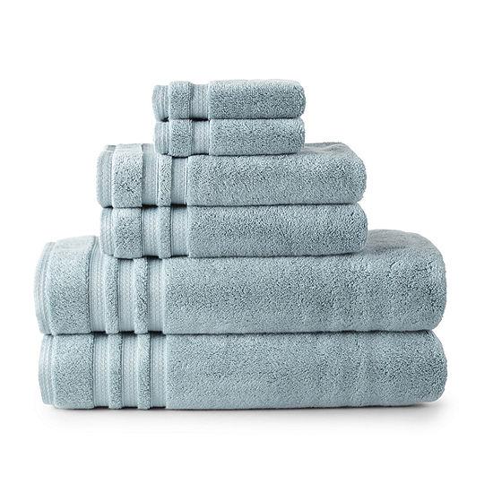 Liz Claiborne Luxury Egyptian Hygrocotton Solid Bath Sheet Set
