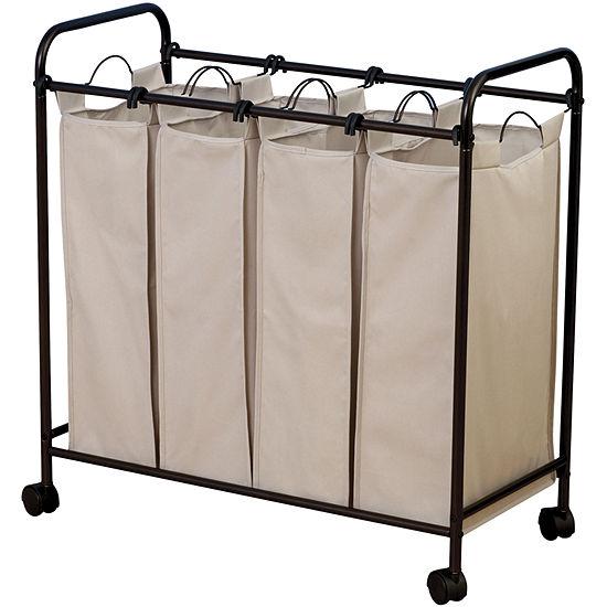 Household Essentials® Antique Bronze Quad Laundry Sorter