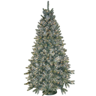 Pre-Lit Frosted Pine Christmas Tree