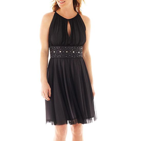 a6e11342922 La Nouvelle Renaissance Sleeveless Beaded Waist Dress JCPenney