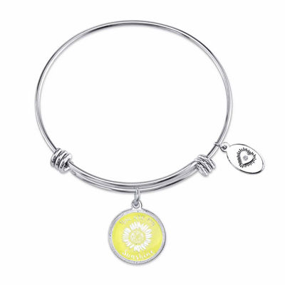 Footnotes White Bangle Bracelet