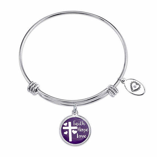 Footnotes Stainless Steel 8.25 Inch Bangle Bracelet