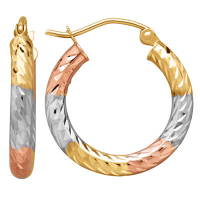 Infinite Gold 14K Gold 20mm Hoop Earrings