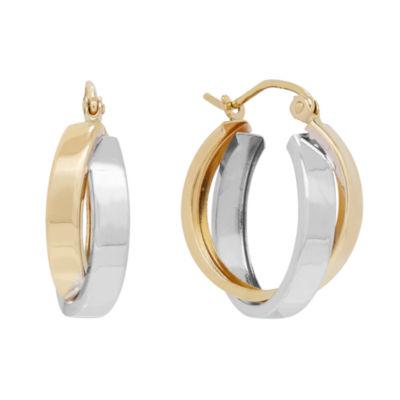 Infinite Gold 14K Gold 17mm Hoop Earrings