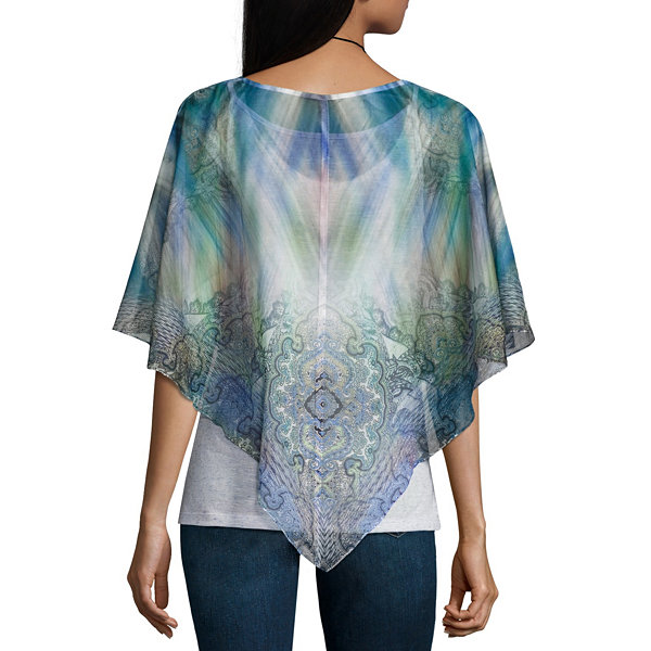 One World Apparel Elbow Sleeve Layered Top