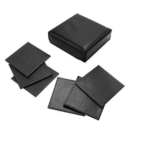 Natico 6-pc. Coasters in Black Box Set