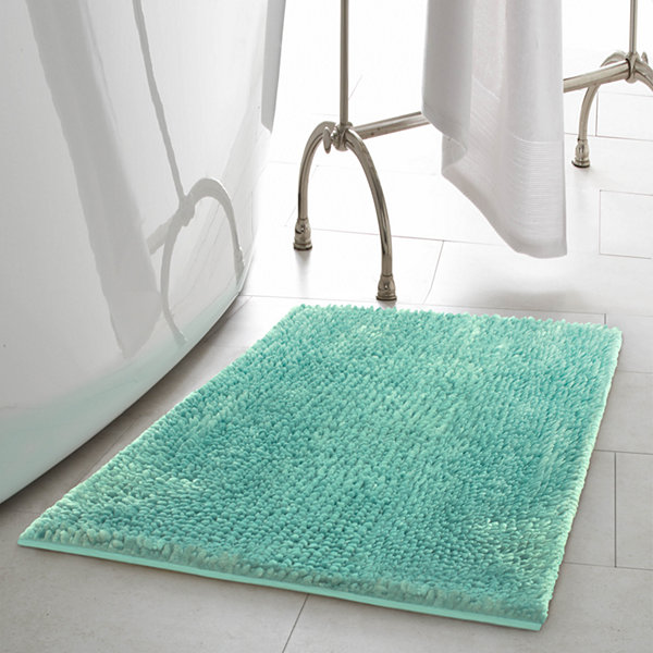 Laura Ashley Butter Chenille 2-pc. Bath Rug Set