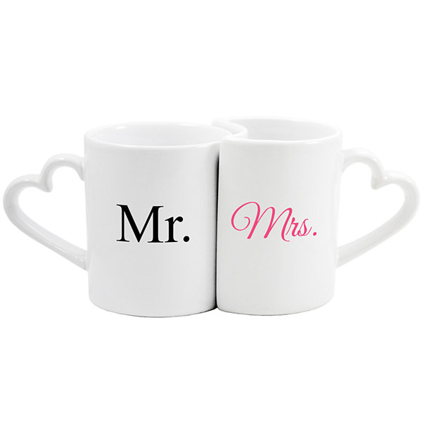 Cathy's Concepts Mr. & Mrs. Set of 2 Coffee Mugs