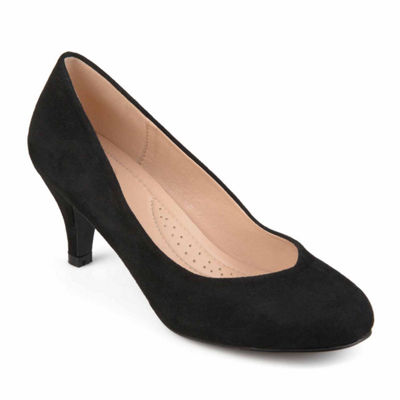 Journee Collection Womens Classic Comfort-sole Round Toe Heels