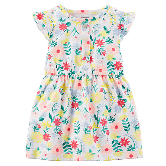 Carter's Sleeveless Flutter Sleeve Fit & Flare Dress - Baby Girls