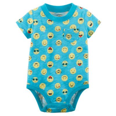 Carter's Slogan & Graphic Print Short Sleeve Bodysuits - Baby Boy