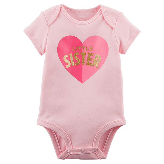 cef3593cab50 Carter s Slogan   All Over Graphic Short Sleeve Bodysuit - Baby Girl ...