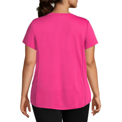 St. John's Bay Active® Short Sleeve Quick Dry Tee -  Plus