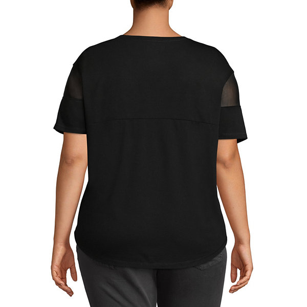 Xersion Mesh Short Sleeve Tee - Plus