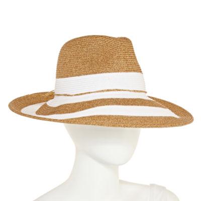 Scala Stripped Panama Hat