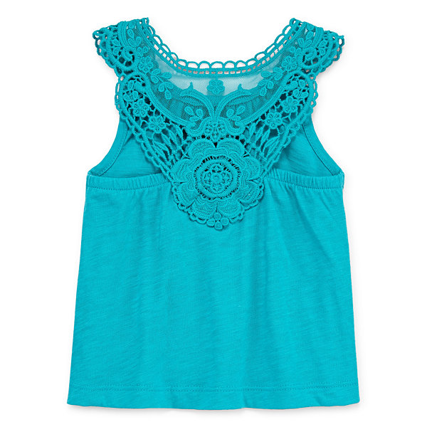 Okie Dokie Lace Back Tank - Baby Girl NB-24M