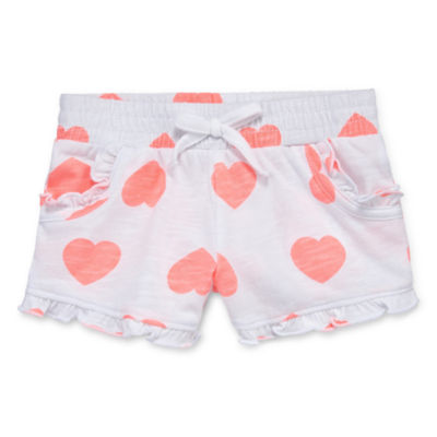 Okie Dokie Ruffle Pull-On Short - Baby Girl NB-24M