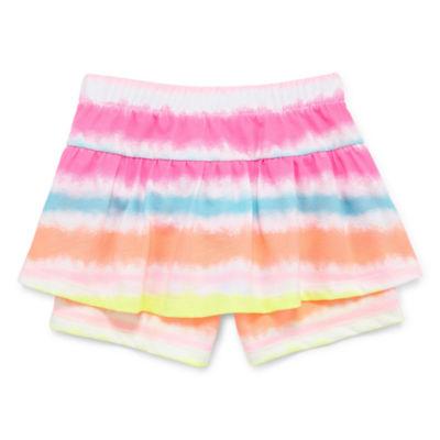 Okie Dokie Printed Pull-On Shortie Short - Baby Girl NB-24M
