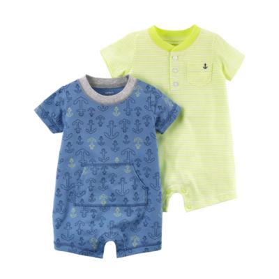 Carter's 2-Pk. Short Sleeve Rompers - Baby Boys