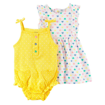Cater's 2pc Creeper & Dress Set - Baby Girl
