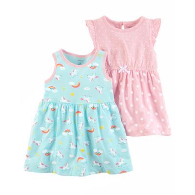Carter's Sleeveless Flutter Sleeve Dress Set - Baby Girls