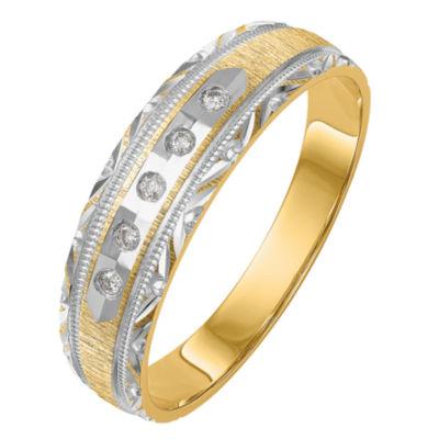 Womens 1/8 CT. T.W. Genuine White Diamond 14K Gold Round Bridal Set