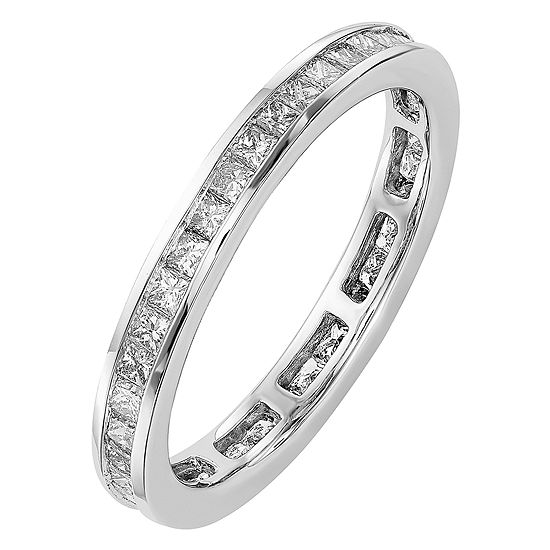 2.5MM 1 CT. T.W. Genuine White Diamond 14K White Gold Round Eternity Band