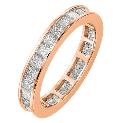Womens 3.5mm 2 CT. T.W. Genuine White Diamond 14K Rose Gold Round Eternity Band